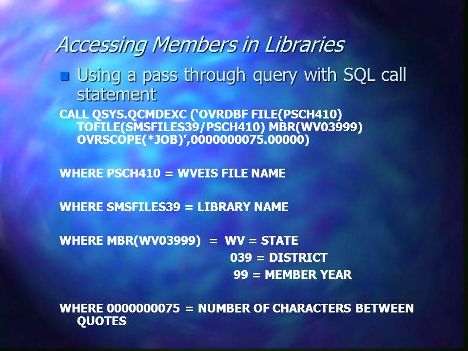 Get External Data n importing WVEIS files n Linking to WVEIS files