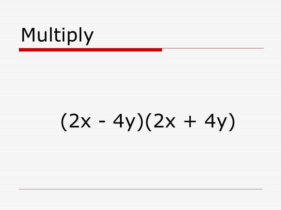 Multiply (3x + y)(2x – 5y)