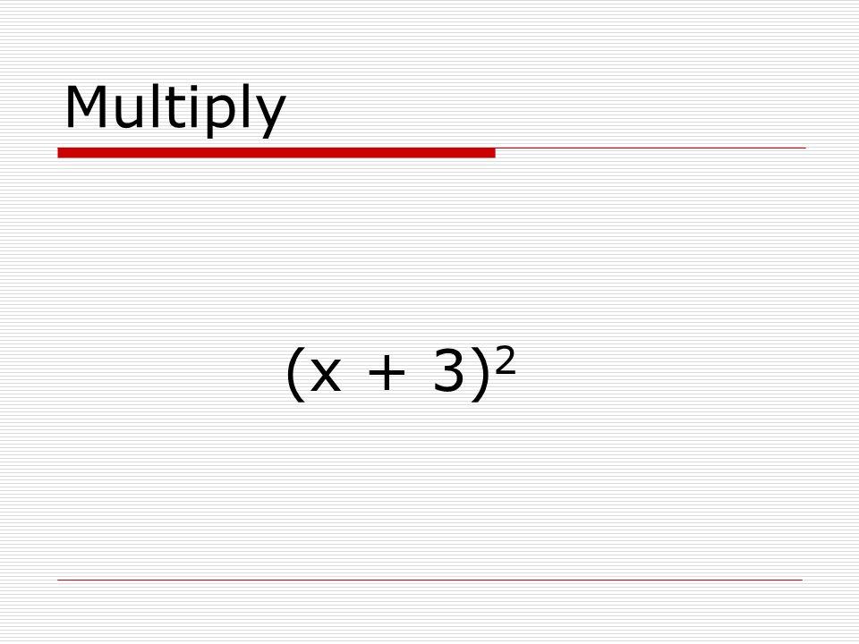 Multiply (x + 2)(x – 2)