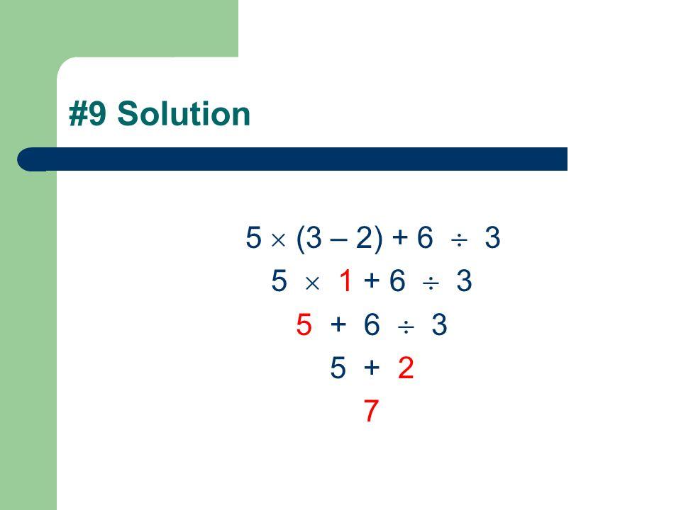 #8 Solution 5 – 3 8 6 5 – 24 6 5 – 4 1