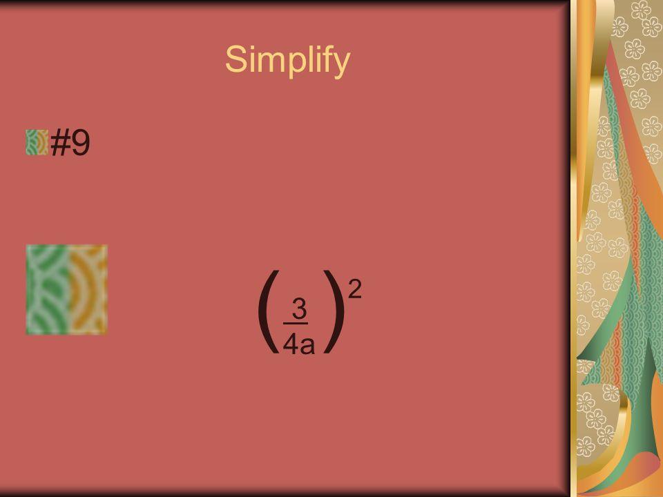 Simplify #8 12x 5 4x 3