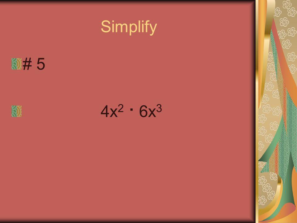 Simplify #4 5x · 7y