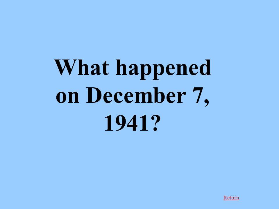 Return What happened on December 7, 1941