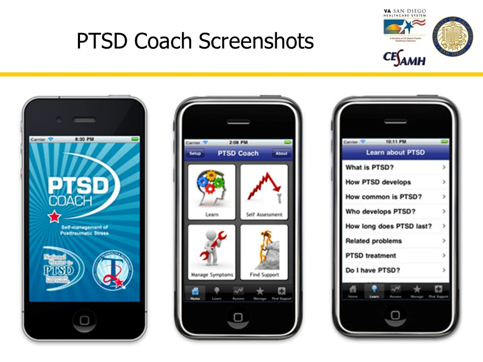 PTSD Coach Screenshots