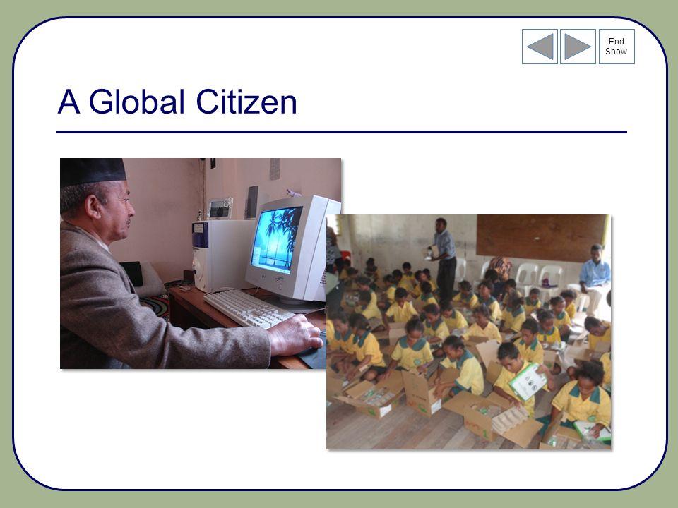 End Show A Global Citizen