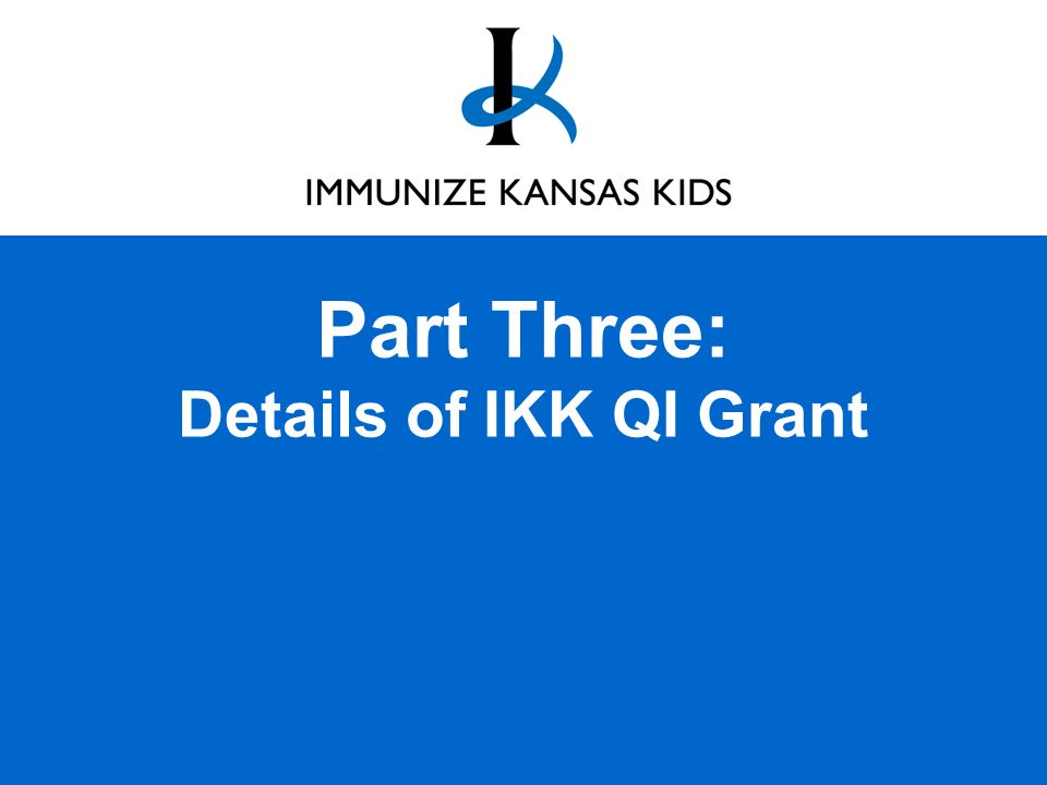 Part Three: Details of IKK QI Grant