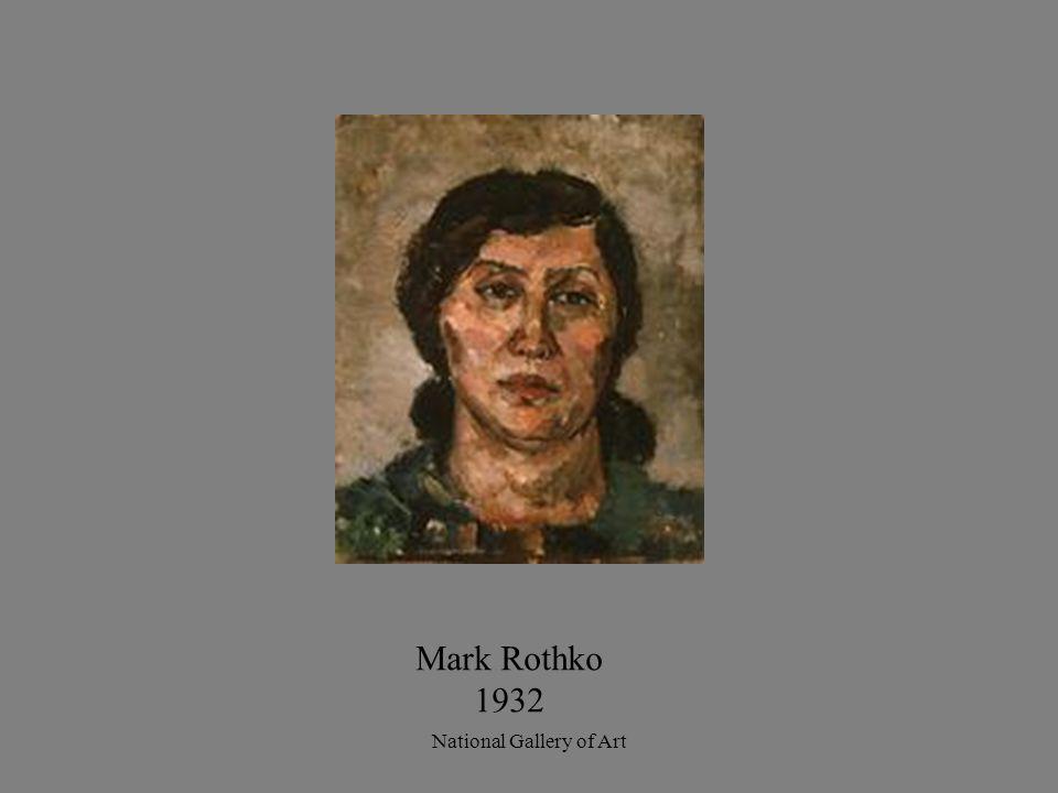 Mark Rothko 1932 National Gallery of Art