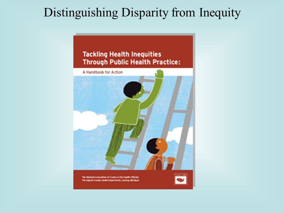 Distinguishing Disparity from Inequity