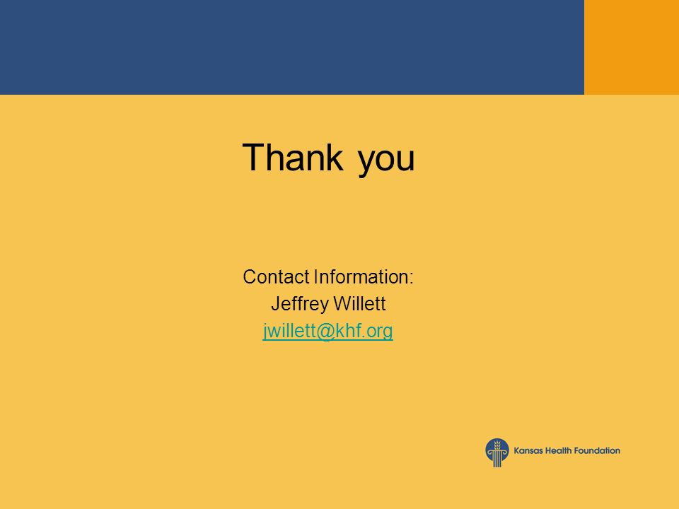Thank you Contact Information: Jeffrey Willett