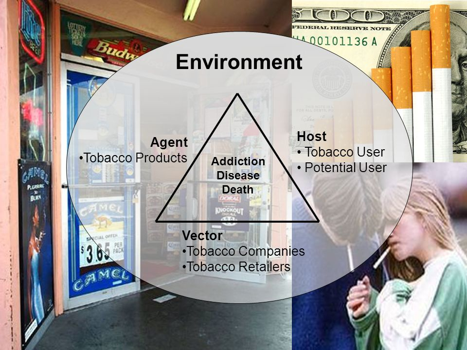 Environment Host Tobacco User Potential User Agent Tobacco Products Vector Tobacco Companies Tobacco Retailers Addiction Disease Death