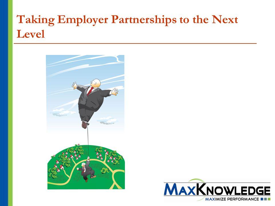 Taking Employer Partnerships to the Next Level