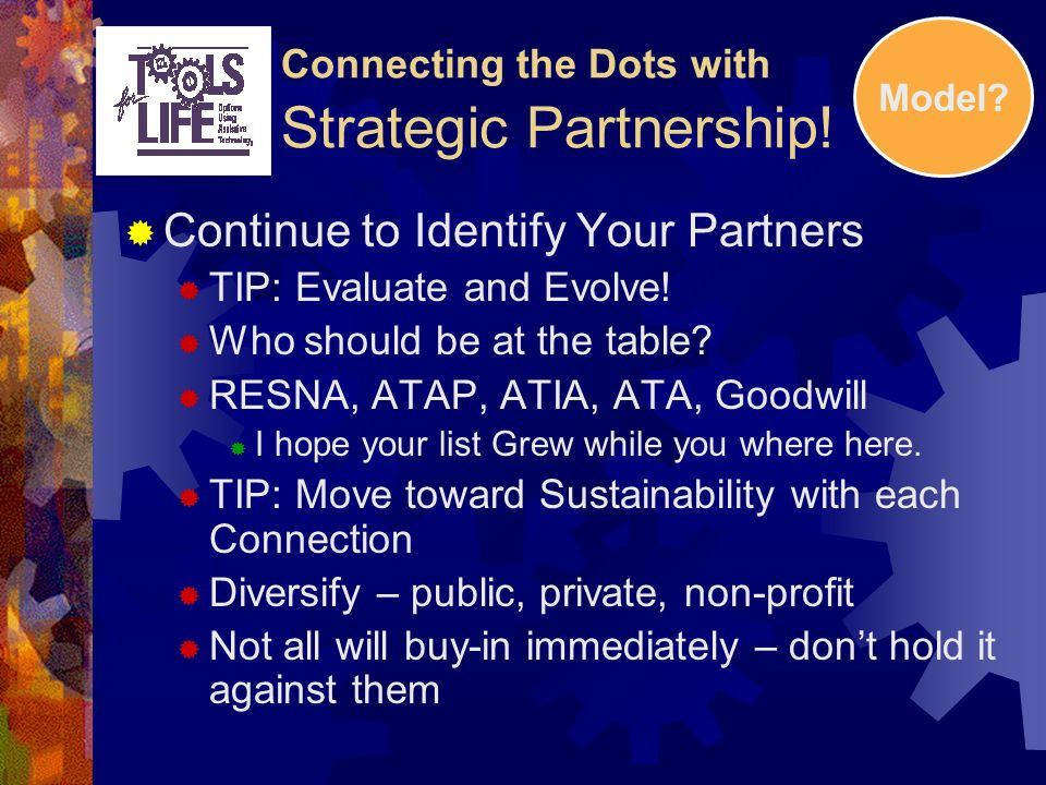 Connecting the Dots with Strategic Partnership.