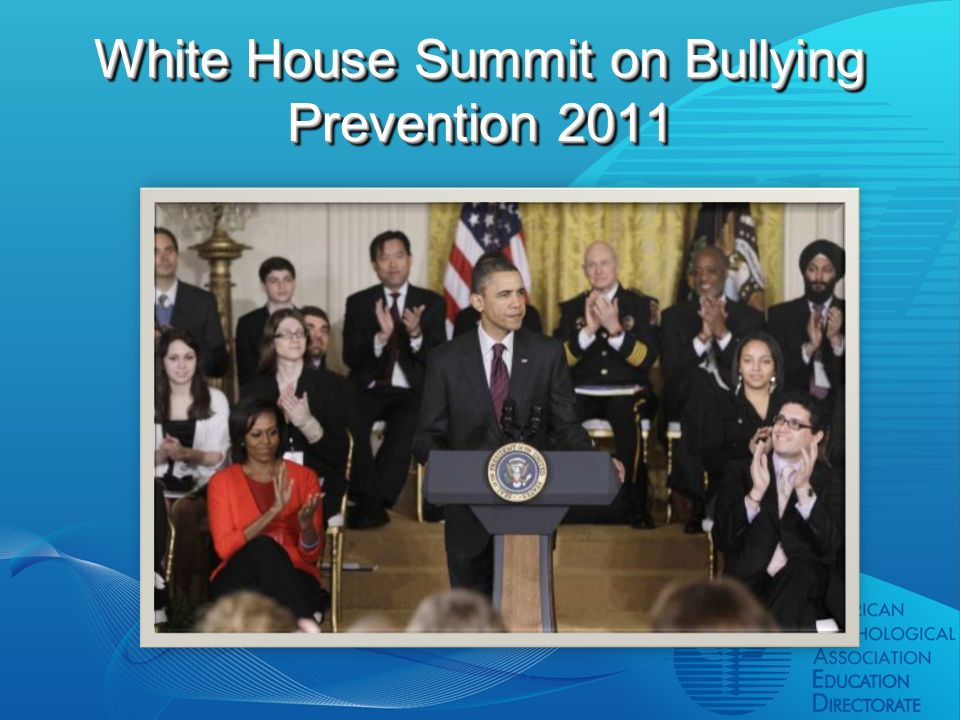 White House Summit on Bullying Prevention 2011