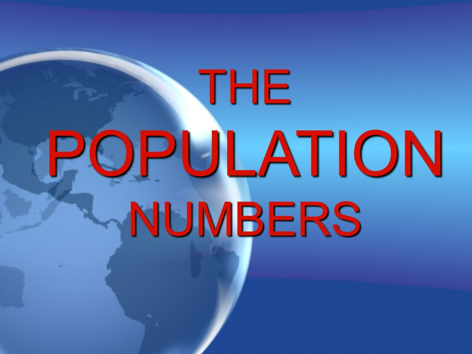 THEPOPULATIONNUMBERS