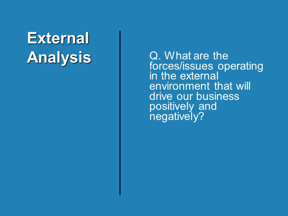 External Analysis Q.