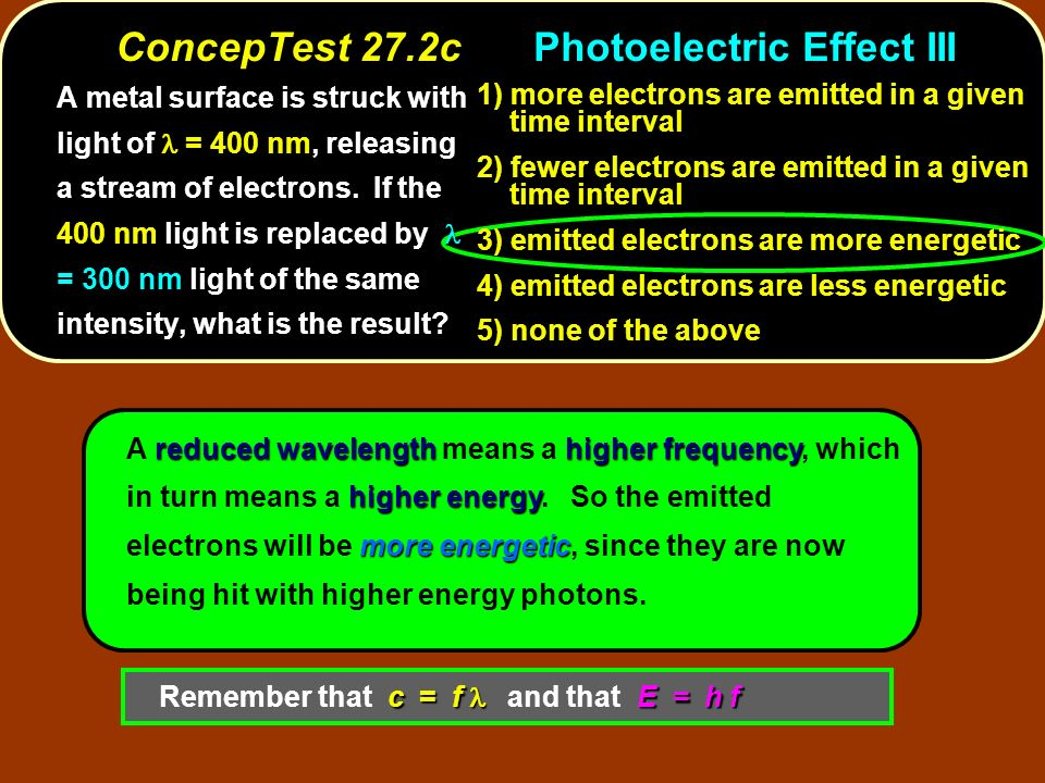 reducedwavelengthhigherfrequency higher energy more energetic A reduced wavelength means a higher frequency, which in turn means a higher energy. So t
