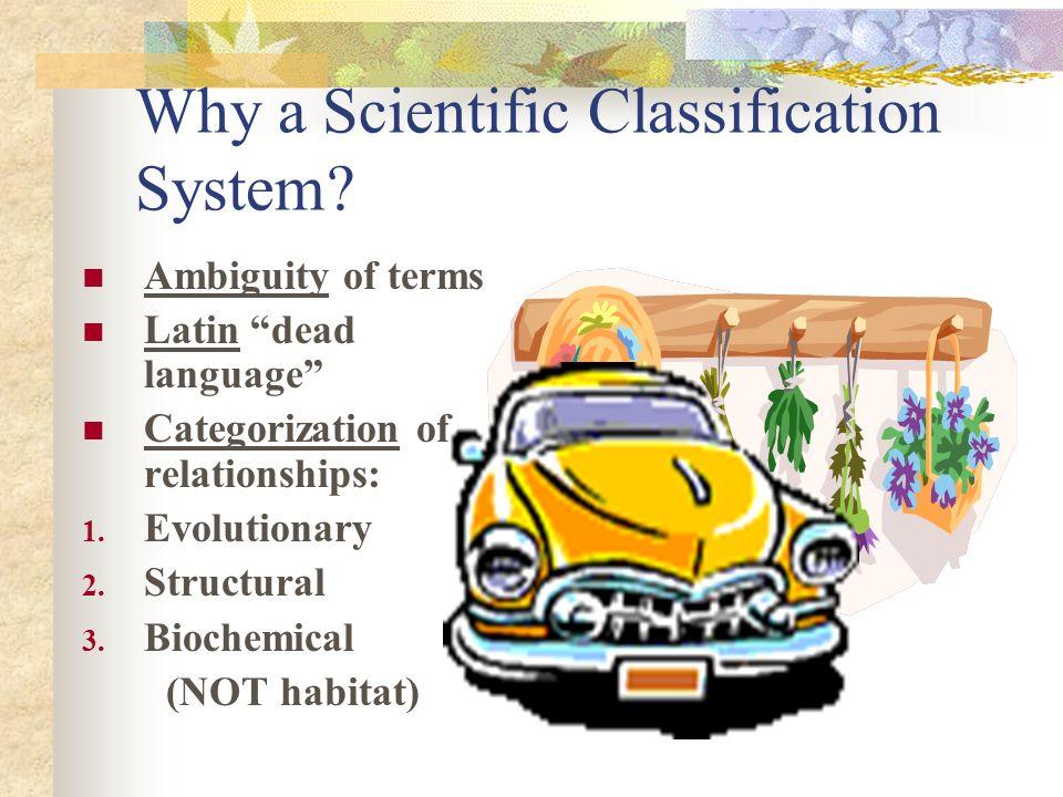 Scientific Classification Systems