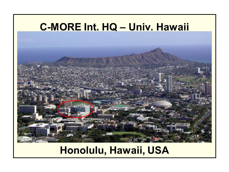 C-MORE CONNECTIVITY University of Hawaii – lead Monterey Bay Aquarium Research Institute Woods Hole Oceanographic Institution OSU UCSC MIT