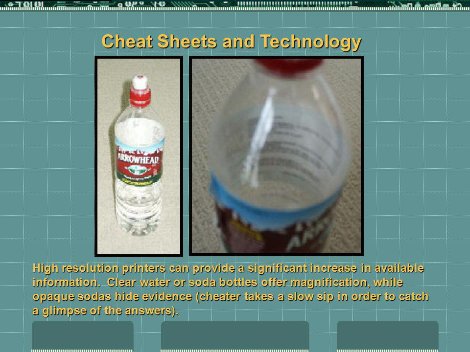 High resolution printers can provide a significant increase in available information. Clear water or soda bottles offer magnification, while opaque so