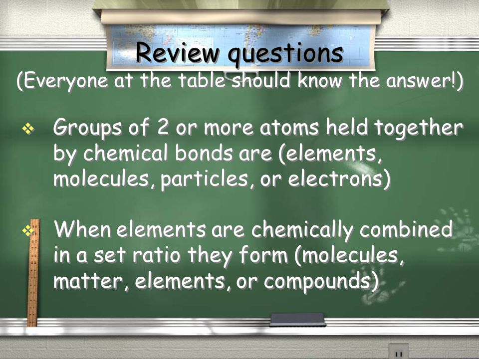 Review questions Which of the following is an example of an element.