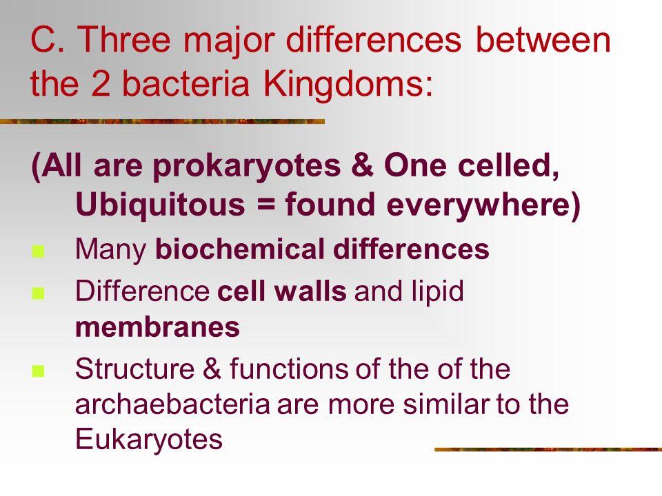 6 Major Kingdoms: 1. Archaebacteria 2. Eubacteria 3. Protista 4. Fungi 5. Planta 6. Animalia 1 cell, prokaryotes 1 cell, eukaryotes & algae Multicelle