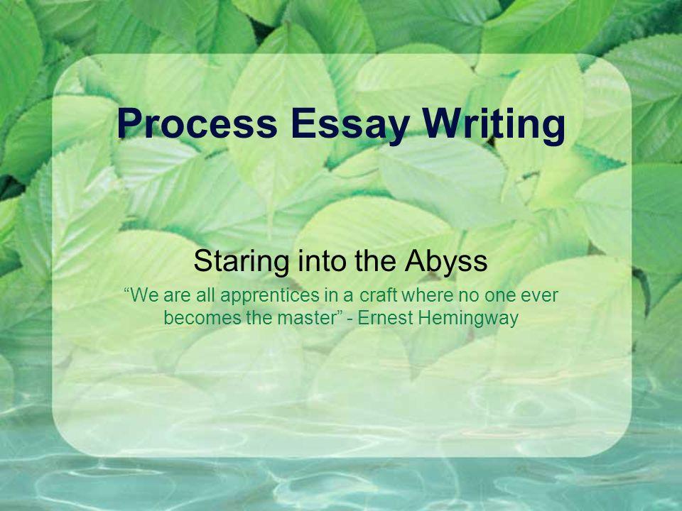 Good process essays