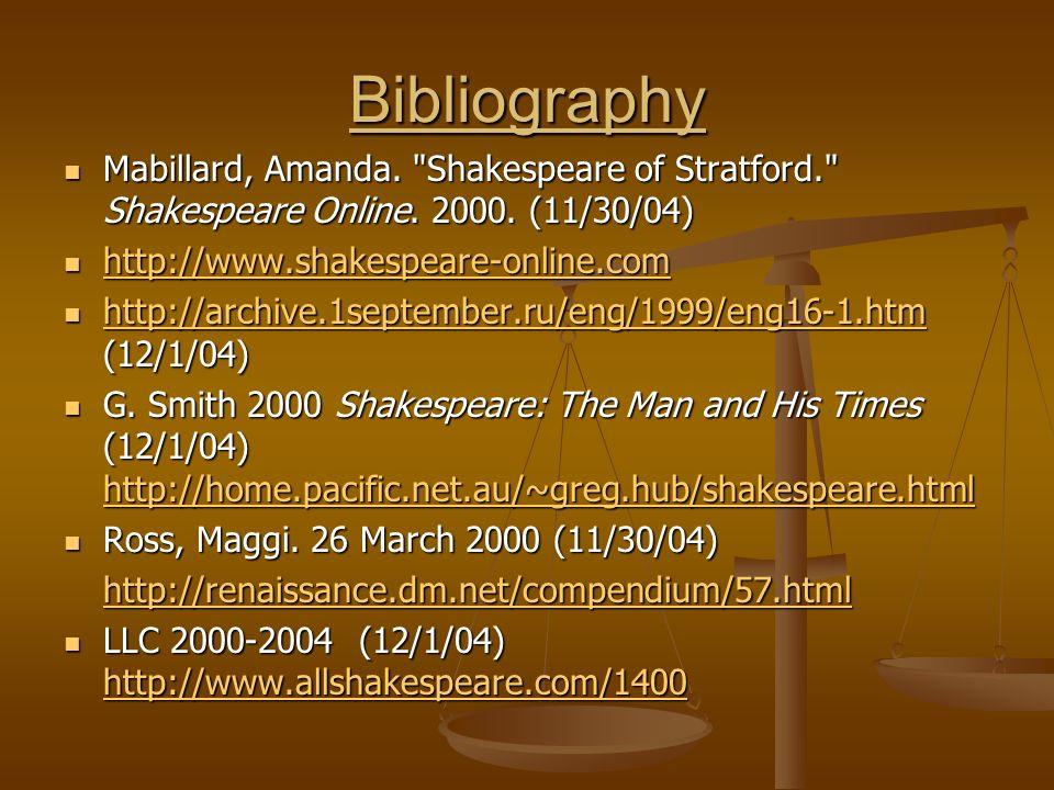 Bibliography Mabillard, Amanda.