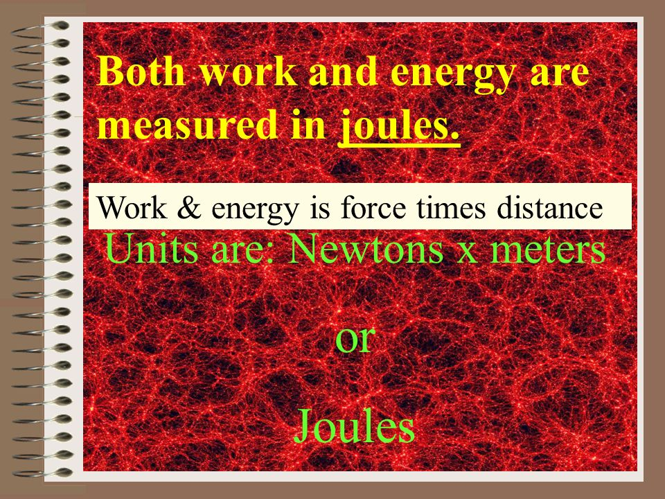 Now calculate Kinetic Energy KE = (½ 50Kg) X (9.8m/s)² = 2401 J 50Kg Whats its velocity if it falls for one second.