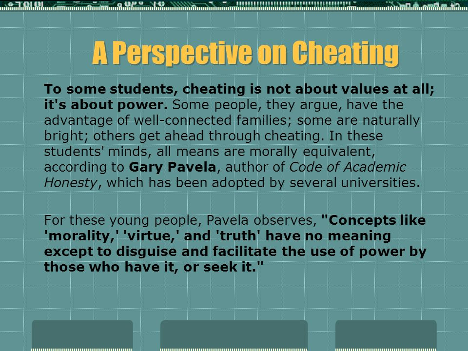 An article on student cheating, published in a school paper by the students of Montgomery Blair High in Silver Spring, Maryland: The article gives first hand stories of students who have cheated during exams, unbeknownst to their clueless teachers.