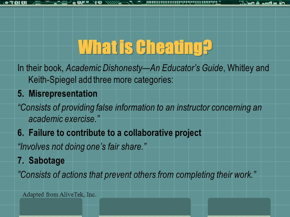 Online Advice to Cheaters A CHEATING TESTIMONIAL by Eric Price Since we are attached to the Internet, we can assume every one of us has access to a computer, a word processor, and a printer.