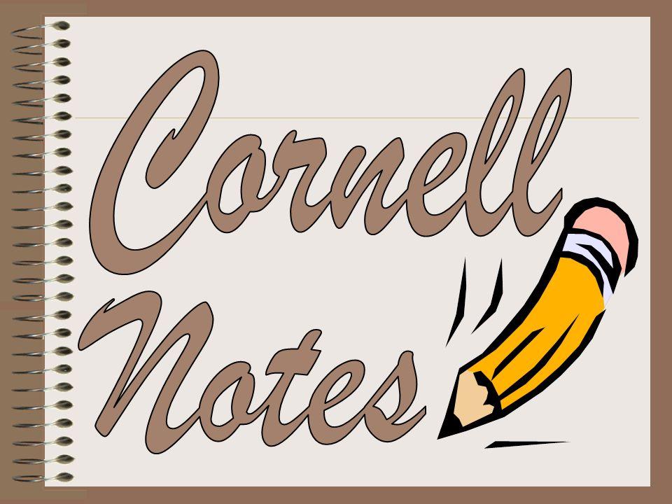 Cornell note taking stimulates critical thinking skills.