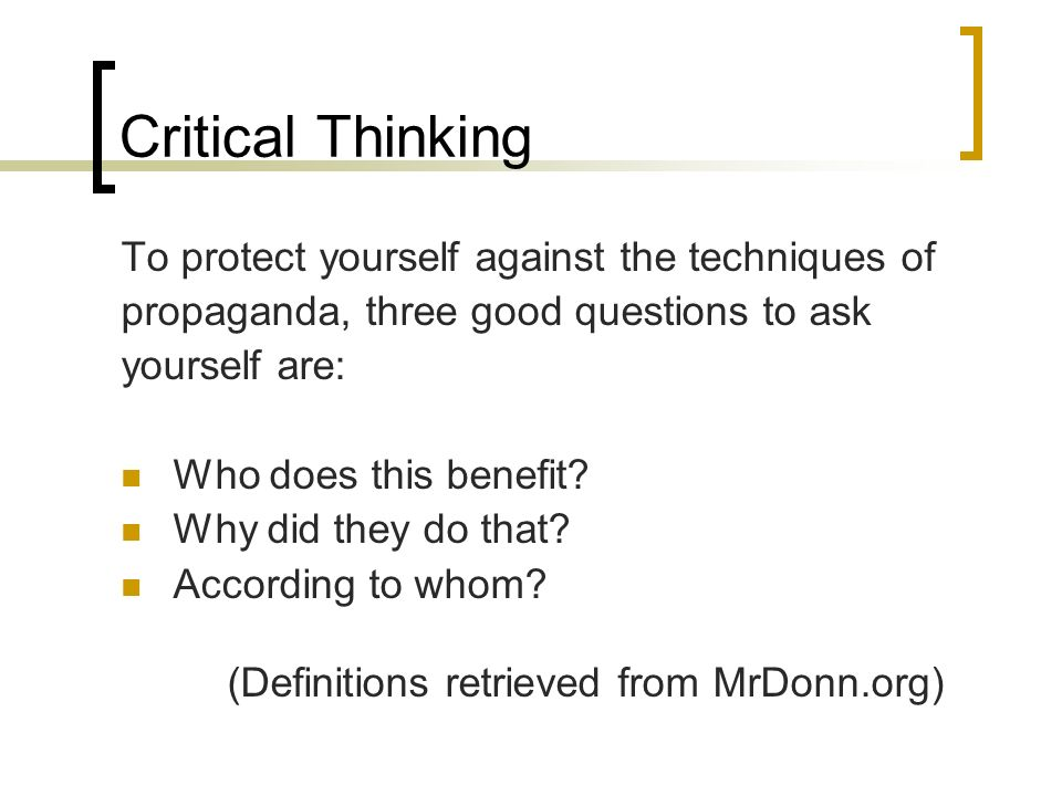 questions to ask yourself about critical thinking