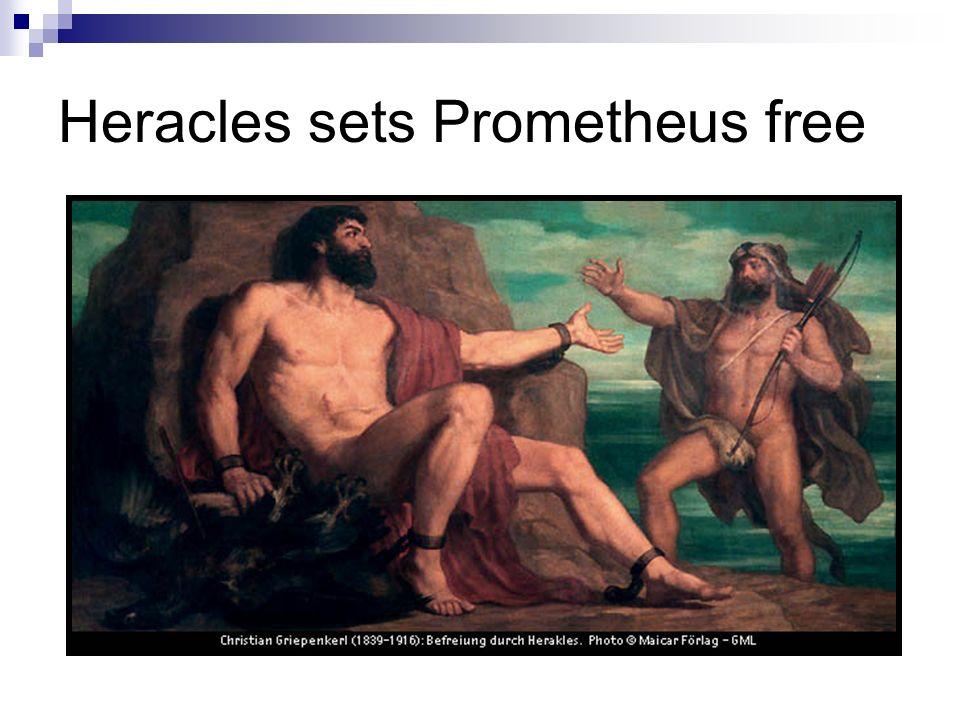 Heracles sets Prometheus free