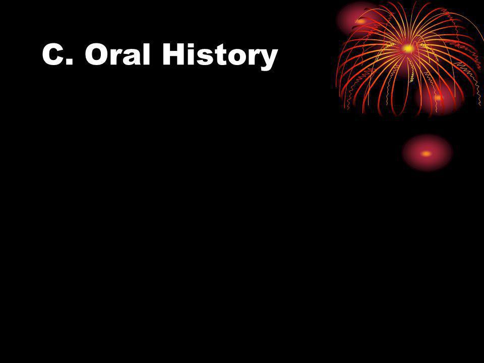 C. Oral History