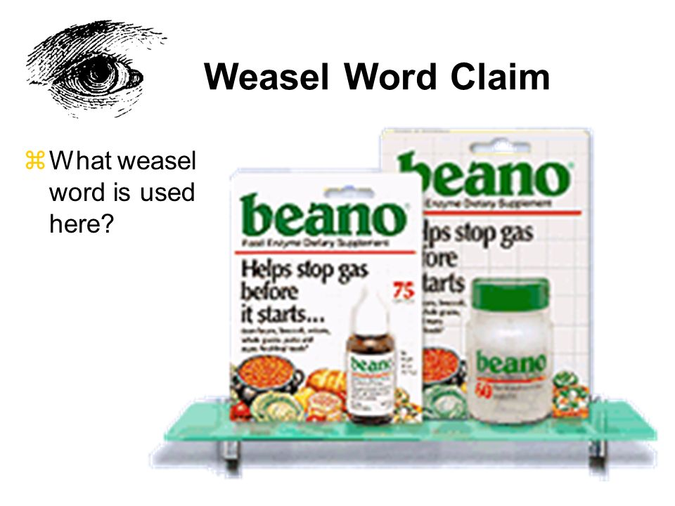 Weasel Word Claim zWhat weasel word is used here?