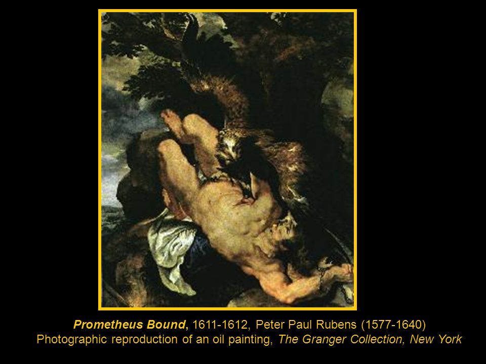 Prometheus Bound, 1611-1612, Peter Paul Rubens (1577-1640) Photographic reproduction of an oil painting, The Granger Collection, New York