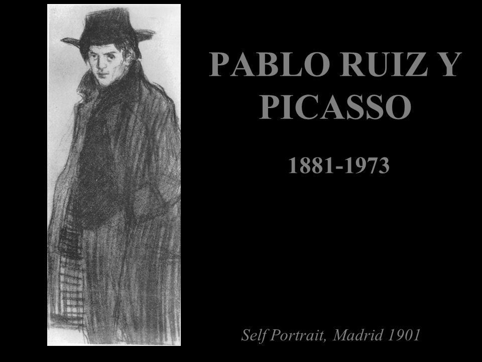 PABLO RUIZ Y PICASSO Self Portrait, Madrid 1901 1881-1973