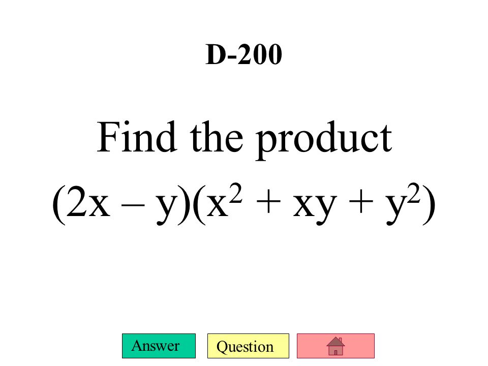 Question Answer D-100 Simplify (4x 3 – 3x 2 – x + 2) – (5x 3 + 3x 2 + x + 4)