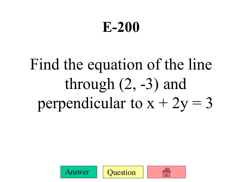 Question Answer E-100 Graph: y = -2 | x – 1| + 5