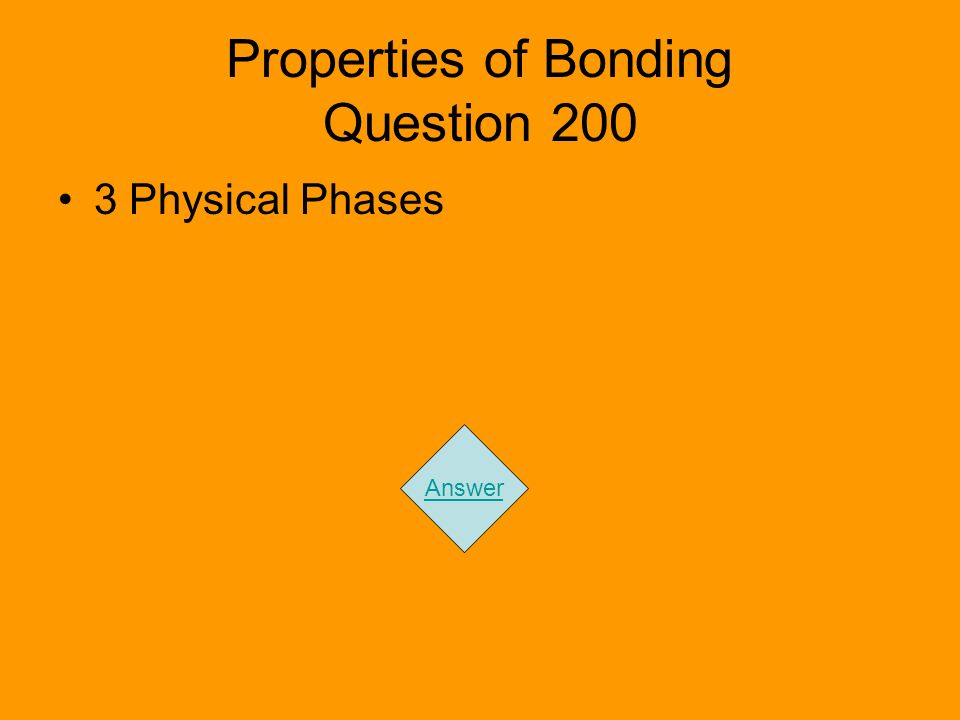 Properties of Bonding Question 200 3 Physical Phases Answer