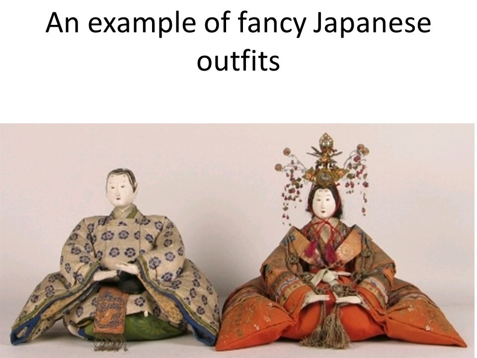 An example of fancy Japanese outfits