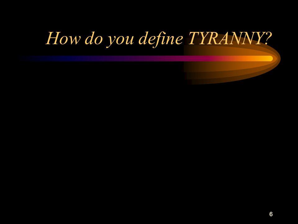5 Tyranny