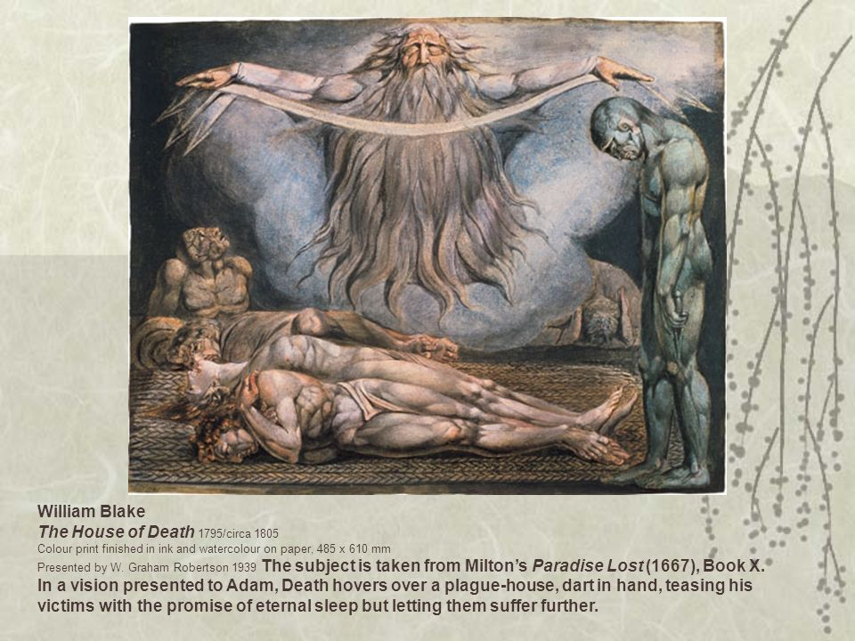 William Blake The House of Death 1795/circa 1805 Colour print finished in ink and watercolour on paper, 485 x 610 mm Presented by W. Graham Robertson