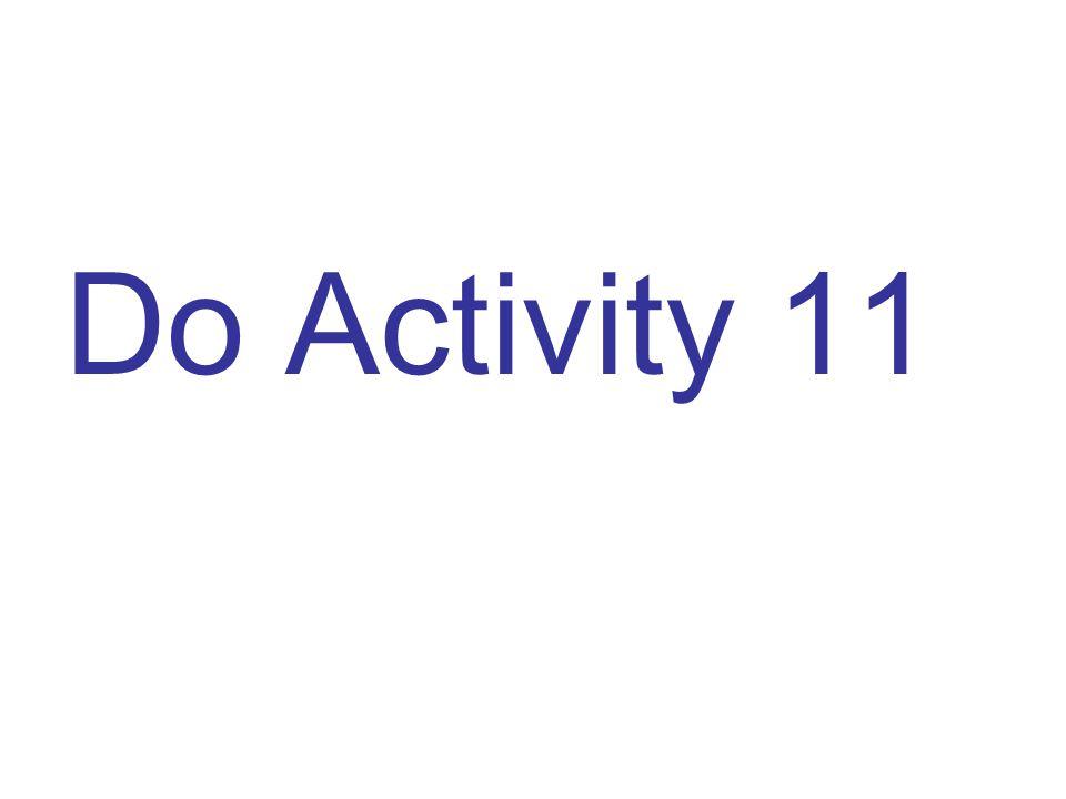 Do Activity 11