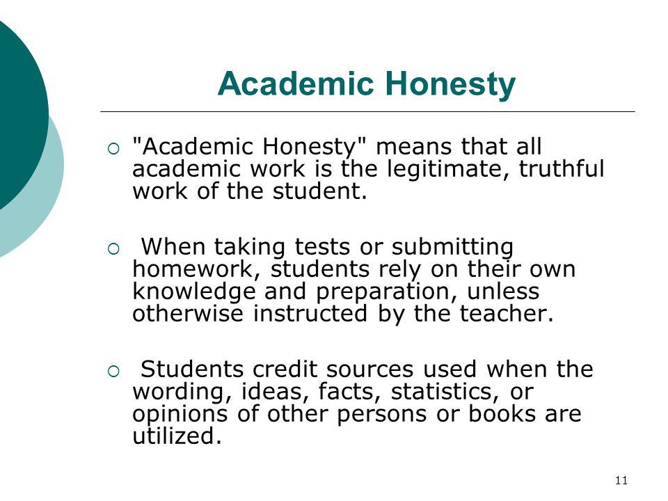 11 Academic Honesty