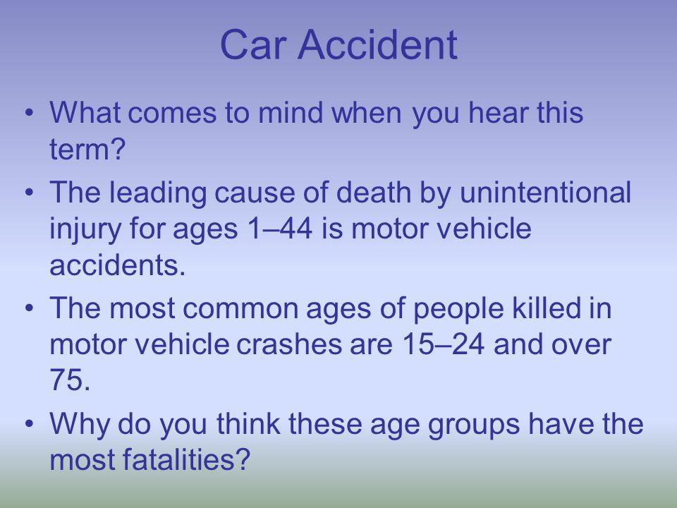 What do car accidents have to do with science.