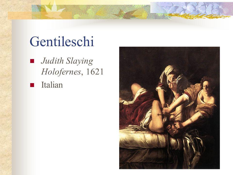 Gentileschi Judith Slaying Holofernes, 1621 Italian