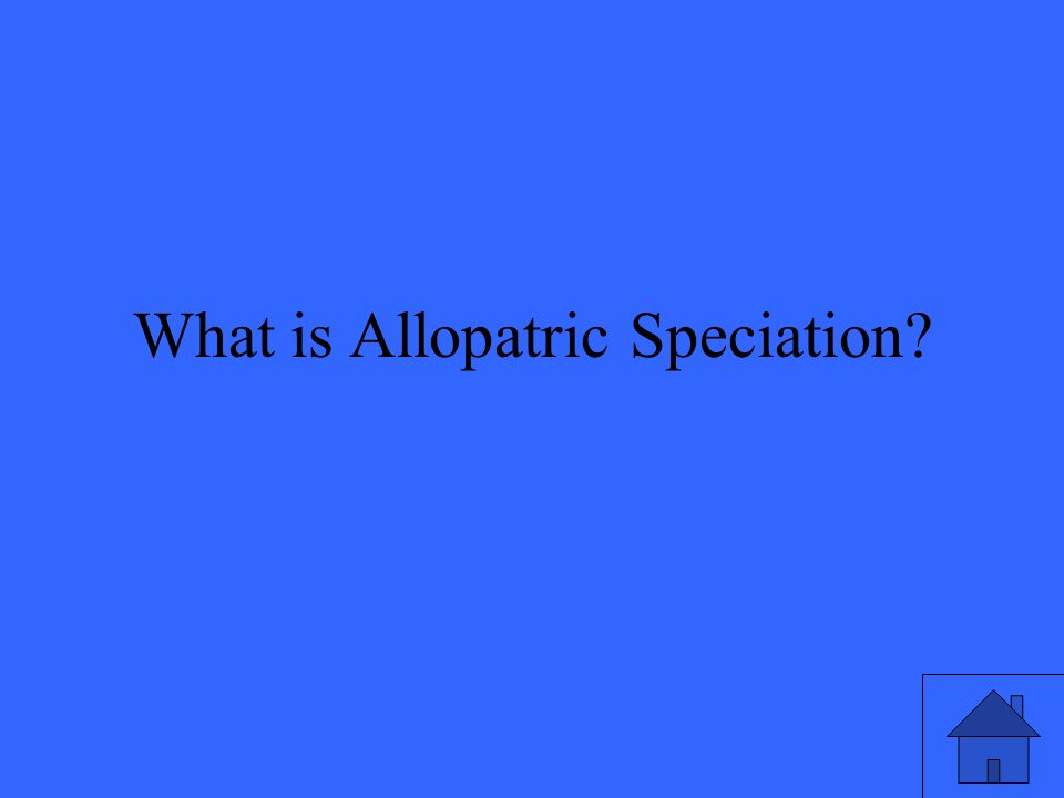 What is Allopatric Speciation?