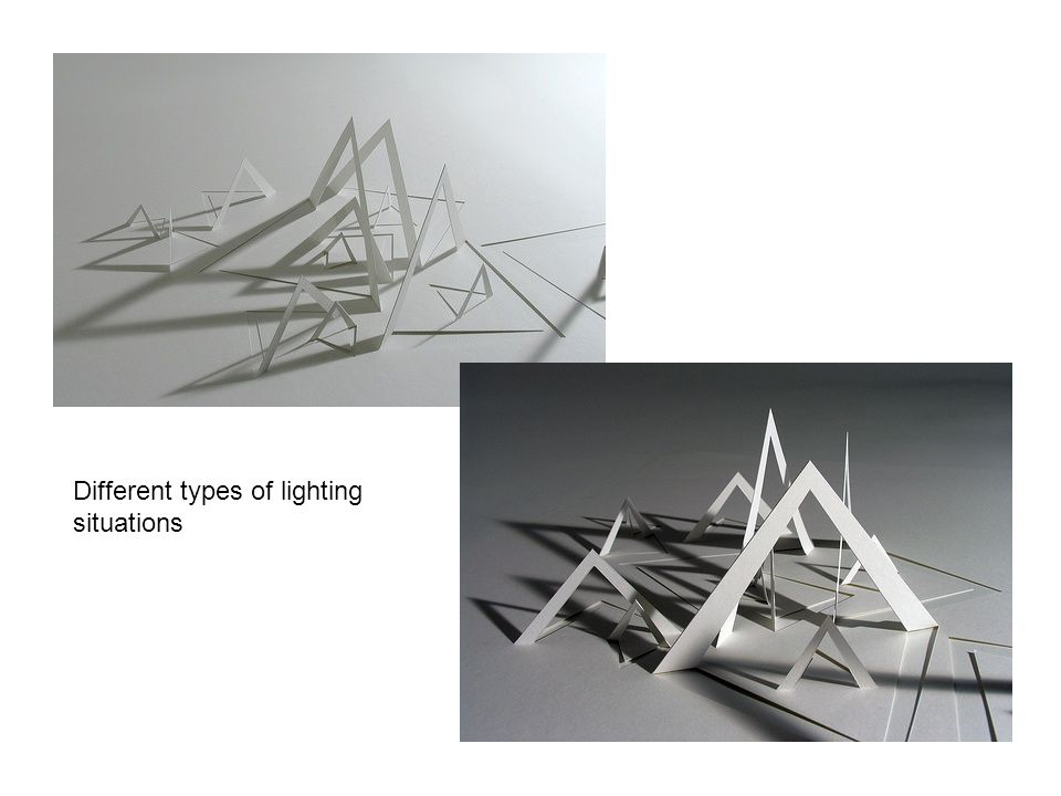 Different types of lighting situations