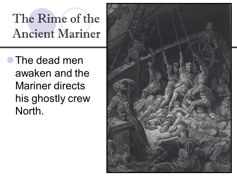 The dead men awaken and the Mariner directs his ghostly crew North. The Rime of the Ancient Mariner